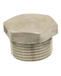 Hexagonal male stainless steel plug - Full body