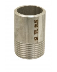 Half nipple for welding in stainless steel 316L - Lenght 100 mm