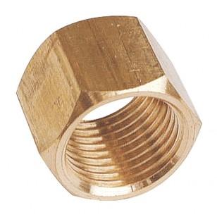 Hexagonal brass coupling - Female / Female