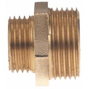 Male reducing brass nipple