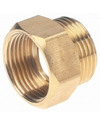 Hexagonal brass equal bushing - M/F