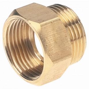 Hexagonal brass equal bushing - M/F