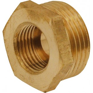 Hexagonal reduced bushing with gasket stop - M/F