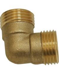 90° Brass Elbow - male / male