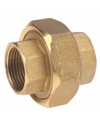Brass Union - F/F - 3 pieces - Sphero conical gasket - Metal/Metal