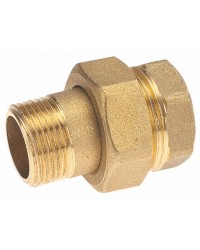 Brass Union - M/F - 3 pieces - Sphero conical gasket + O-Ring