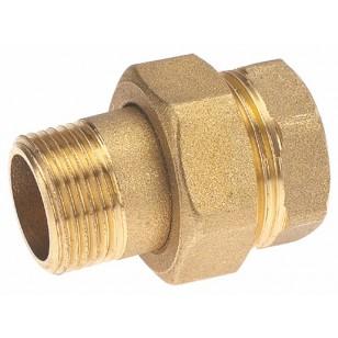Union laiton Mâle / Femelle - 3 pièces - Étanchéité sphéro-conique + Joint torique