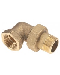 Brass Union Elbow - M/F - Flat gasket