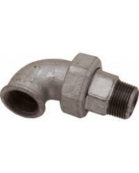 Union elbow - M/F - 3 Pieces - Taper seat - Galvanized Iron Cast