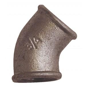 45° Elbow - F/F - Galvanized Iron Cast