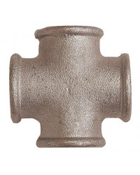 Equal Cross beaded - F/F/F/F - Galvanized Cast Iron