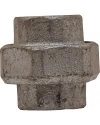 F/F Union - 3 pieces - Flat gasket - Galvanized Cast Iron