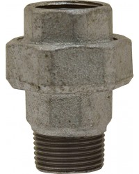 M/F Union - 3 pieces - Flat gasket - Galvanized Cast Iron