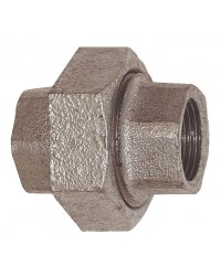 F/F Union - 3 pieces - Conical sealing - Galvanized Cast Iron