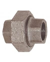 Union Femelle / Femelle - 3 pièces - Joint conique - Fonte galvanisée