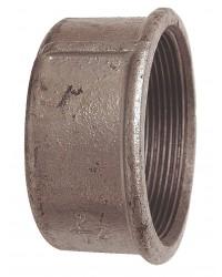 Female plain cap - Galvanized Cast Iron