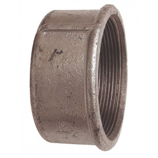Female plain cap - Galvanized Cast Iron