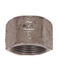 Female hexagonal cap beaded - Galvanized Cast Iron