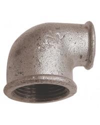 Coude réduit 90° Femelle / Femelle - Fonte galvanisée
