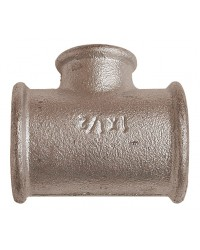 Reducing tee - F/F/F - Galvanized Cast Iron