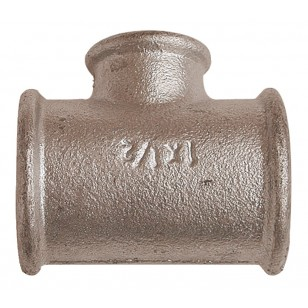 Reducing tee - F/F/F - Galvanized Cast Iron
