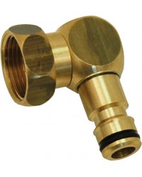 Automatic female fitting with swivel nut