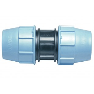 Polypropylene repaired coupling for PE pipe