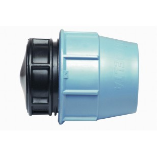 Polypropylene cap for PE pipe