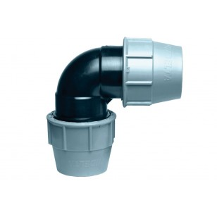 90° Polypropylene elbow for PE pipe