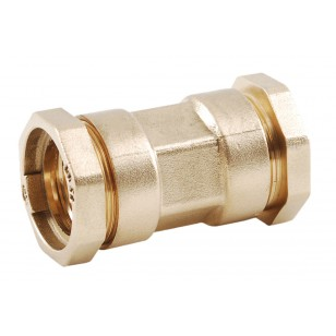 Straight brass coupling