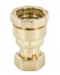 Straight Brass coupling - EP / With swivel nut