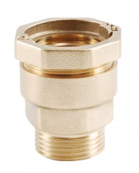 Straight brass coupling - PE / Male