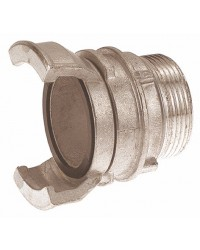 Aluminium Guillemin coupling - Male threaded with locking ring