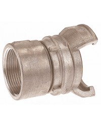 Aluminium Guillemin coupling - Female threaded with locking ring