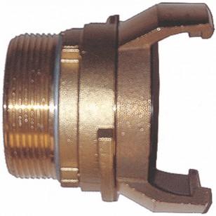 Raccord guillemin bronze - Mâle avec verrou