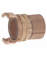 Raccord guillemin bronze - Femelle avec verrou