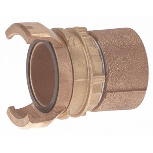Bronze Guillemin coupling - Female threaded with locking ring