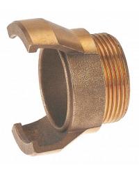 Raccord guillemin bronze - Mâle sans verrou