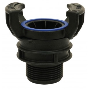 Polypropylene Guillemin coupling - Male threaded with locking ring