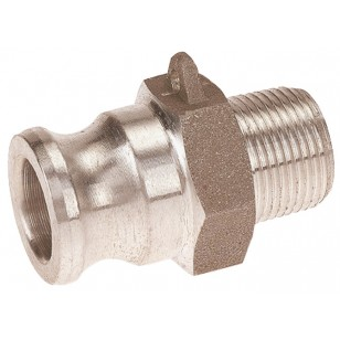 Adaptateur mâle - Type F - Aluminium