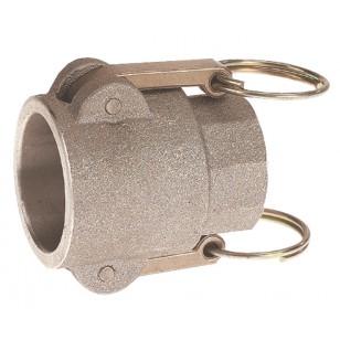 Female coupler - Type D - NBR Gaskets - Aluminium