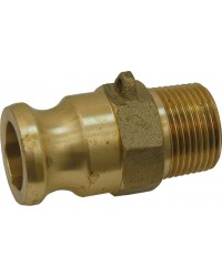 Male adaptor - Type F - Brass