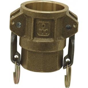 Female coupler - Type D - NBR Gaskets - Brass