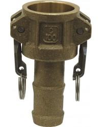 Coupleur cannelé - Type C - Joints NBR - Laiton