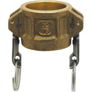 Coupleur bouchon - Type DC - Joints NBR - Laiton