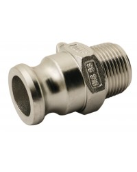 Male adaptor - Type F - 316 stainless steel