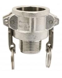 Coupleur mâle - Type B - Joints NBR - Inox 316