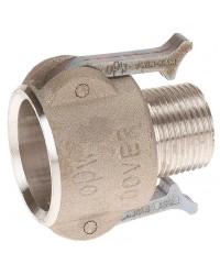 Coupleur mâle - Type B - Joints NBR - Aluminium