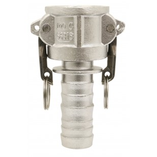 Coupleur cannelé - Type C - Joints NBR - Inox 316