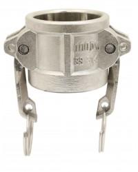 Coupleur bouchon - Type DC - Joints NBR - Inox 316